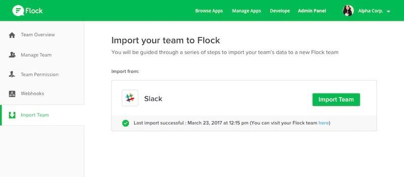 slack to flock