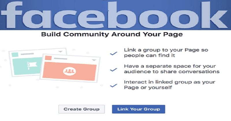 Facebook Groups for Pages.