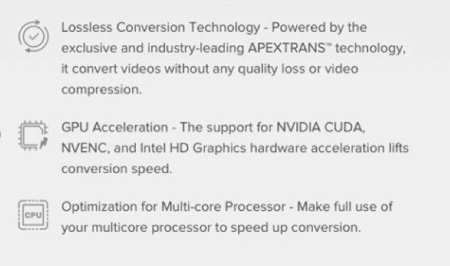 High speed conversion