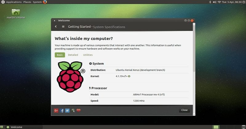Ubuntu MATE On Raspberry Pi.