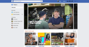 Facebook Launches New 'Watch' Tab For Original Video Content