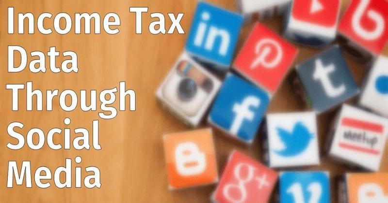 Income-Tax-data-through-social-Media
