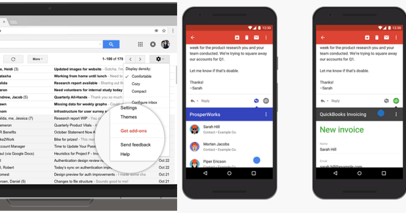 Google launched Gmail Add-ons