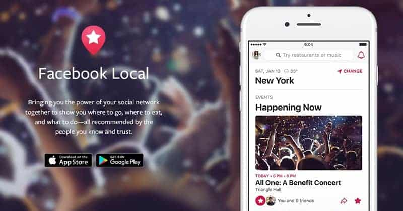 Facebook Relaunches Events App as 'Facebook Local'