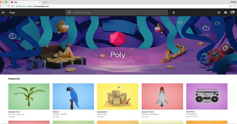Google-Poly-3D-sharing-community.