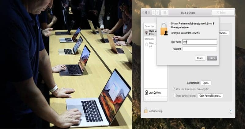 "Major Security Flaw Lets Anyone ""Hack Mac OS High Sierra Just By Typing Root""!"