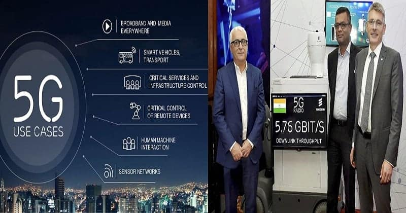 """First Live 5G Demo in India"" by Ericsson- 5.7 Gbps Throughput & 3 ms Latency"