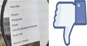 Facebook Removes 'Delete Post' Option from the Desktop Version