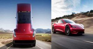 Elon Musk Unveils Tesla's New Semi-Truck and Second-Gen Roadster