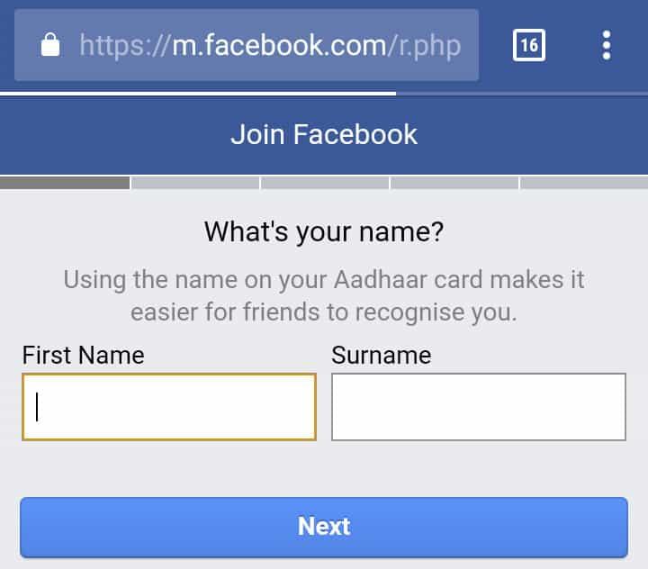 Facebook-Aadhaar-prompts