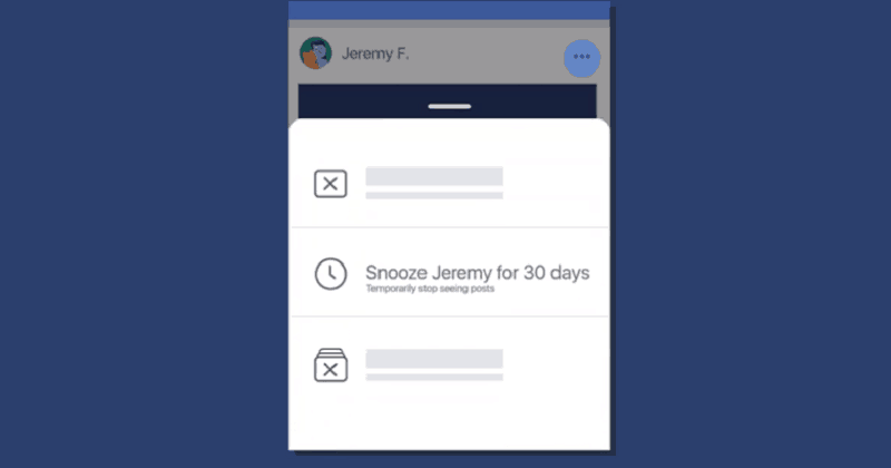 "Facebook Introduces ""Snooze"" Feature To Temporarily Mute Your Annoying Friends"