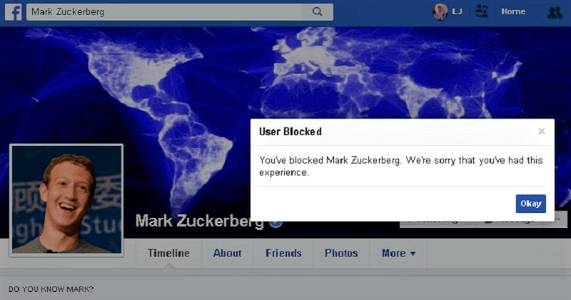 Finally, You Can Block Mark Zuckerberg On Facebook - FB Team Silently Fixed The Error