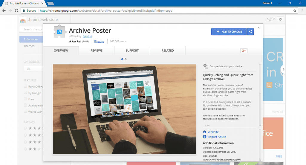 Chrome-Extension-Archive-Poster