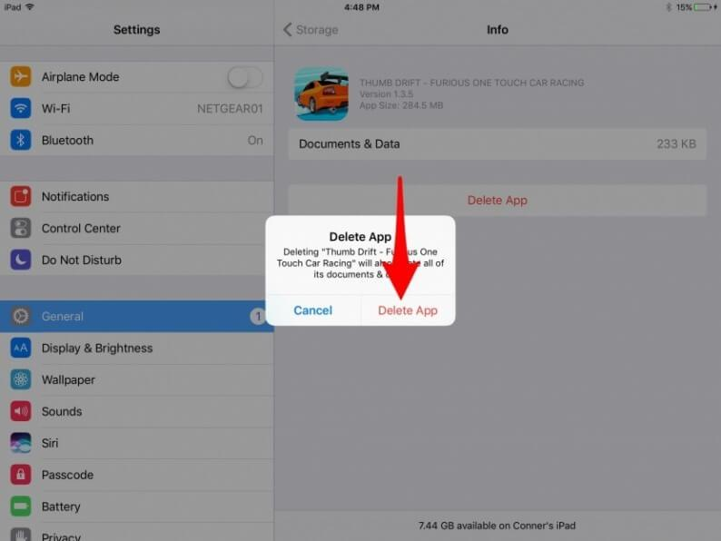 Delete-an-App-from-iPad-by-using-Settings