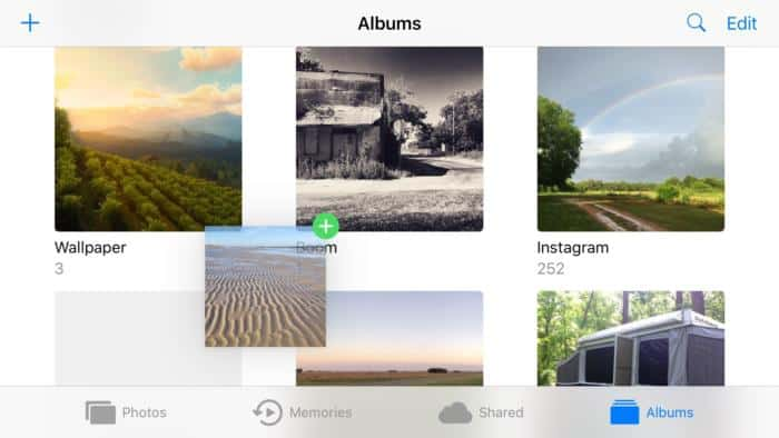 Drag-and-drop-photos-from-one-album-to-another-in-iphone