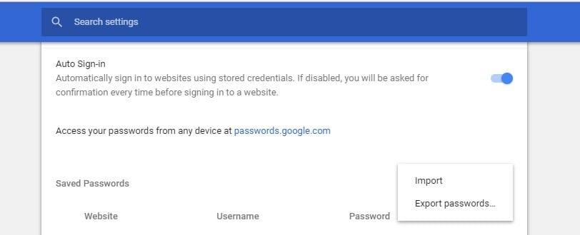 password-export-chrome