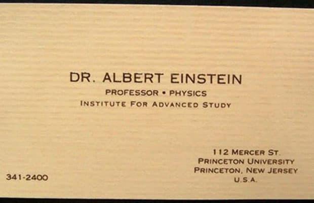 Albert Einstein Business Card