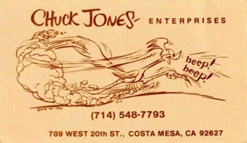 Chuck Jones Business Card