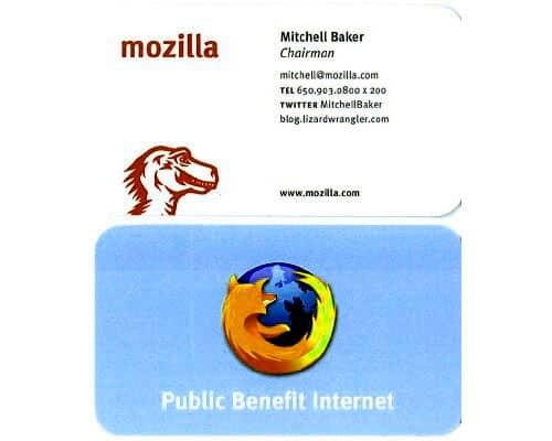 Mitchell Baker Business Card