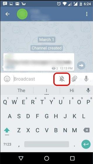 Send Mute Messages In Telegram