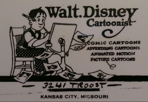 Walter Disney Business Card