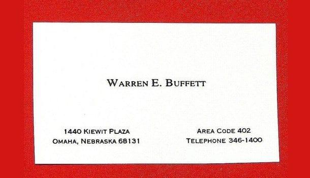Warren Buffet Business Card