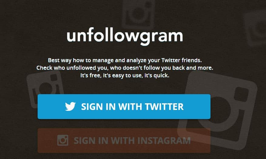 unfollowgram - who unfollowed on Instagram