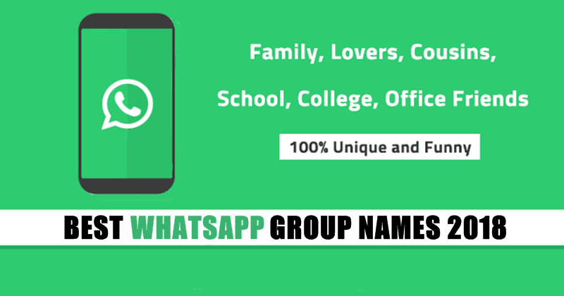 Best WhatsApp Group Names for Friends, Family
