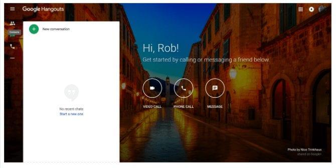 Google Hangouts - Skype Alternative