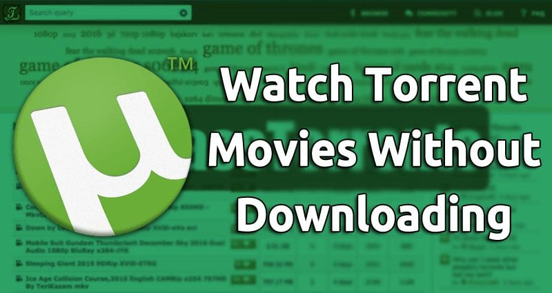 Watch Torrent movies without downloading