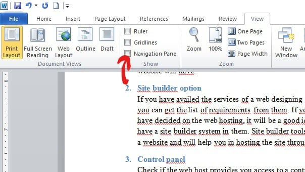 How to delete a page in ms word document step 2