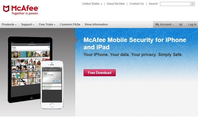 4 best anti virus apps for iphone - mcafee mobile security for iphone and ipad