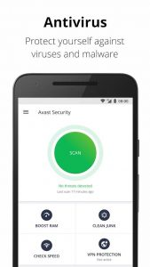 4 best free anti virus android apps - avast mobile security