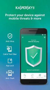 4 best free anti virus android apps - kaspersky mobile antivirus