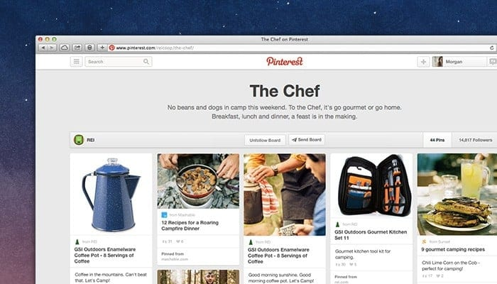 Use Pinterest boards to better organize your pins