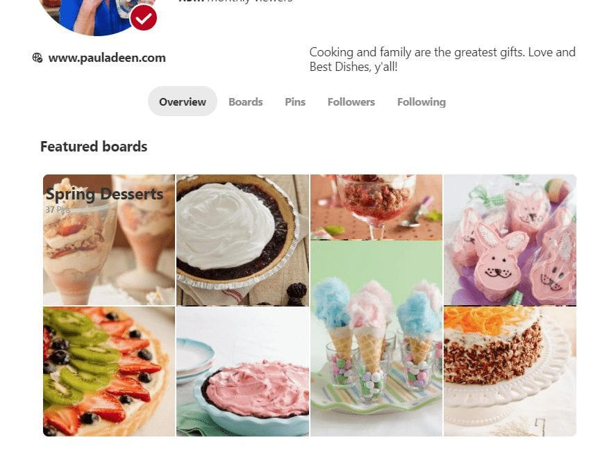 Use featured boards to make your Pinterest page attractive