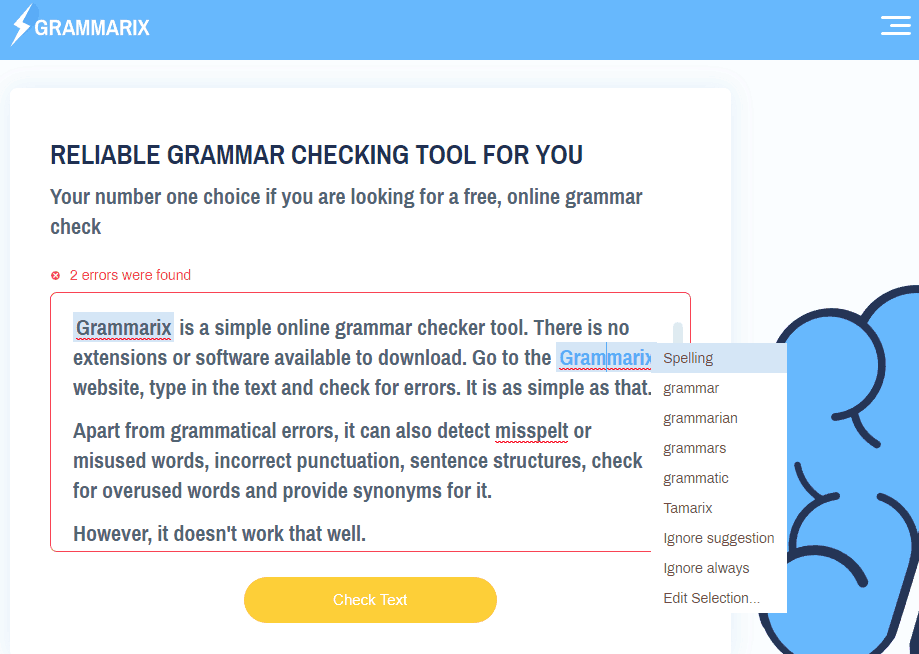 Best Free Grammar Check Websites - Grammarix