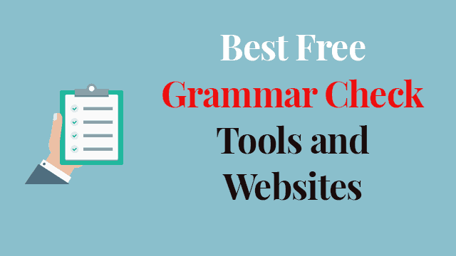 Best Free Grammar Check Websites