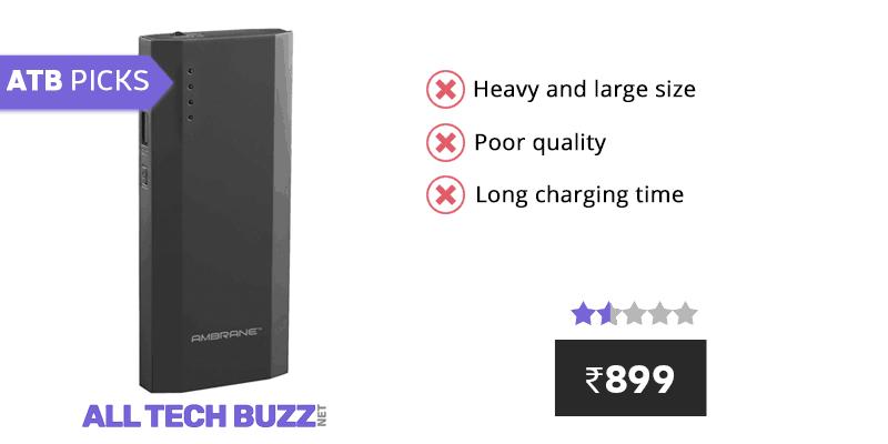 Best power bank under 1000 - Ambrane P-1111 10000mAH Power Bank Review