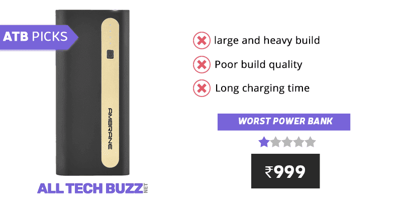 Best power bank under 1000 - Ambrane P-1310 13000mAH Power Bank Review