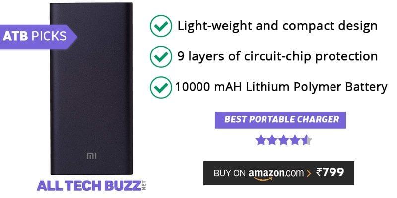 Best power bank under 1000 - Mi 10000mAH Li-Polymer Power Bank 2i Alltechbuzz review