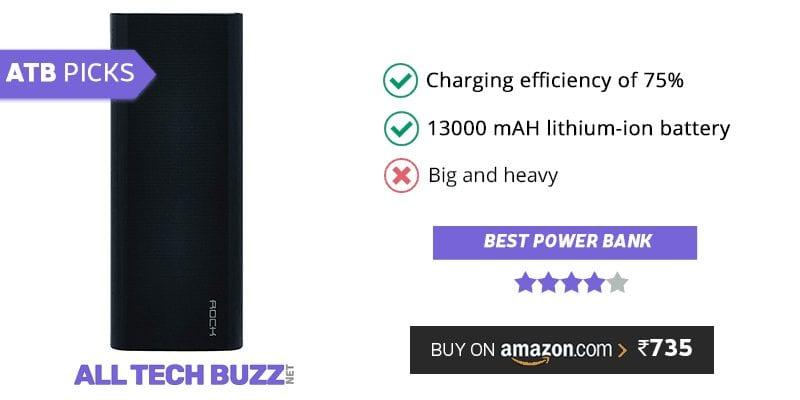 Best power bank under 1000 - Rock ITP106 13000mAH Power Bank Review