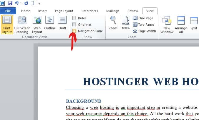 How to delete a blank page in ms word step 1