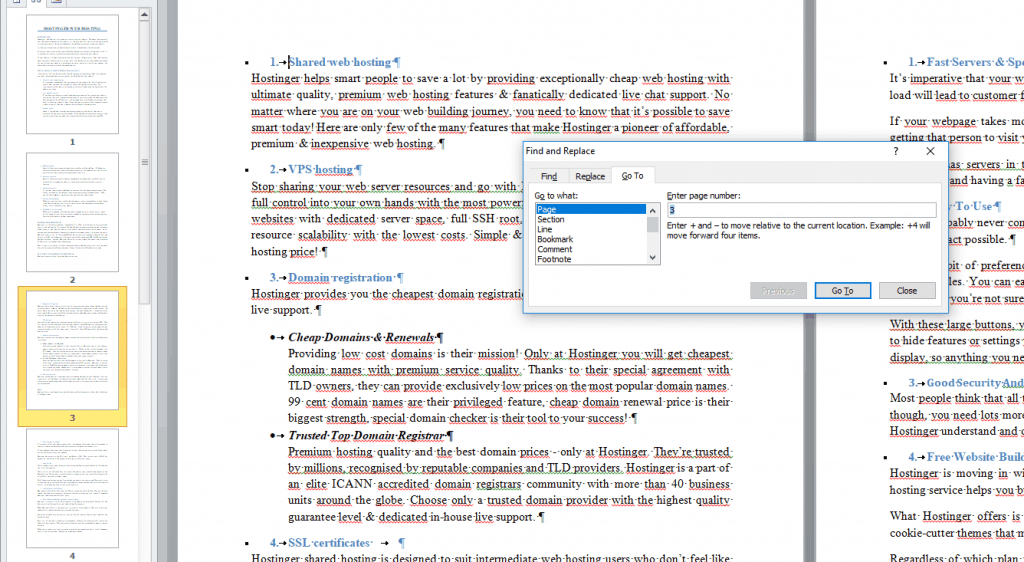 How to delete multiple pages in MS word step 4