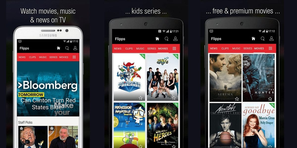 Flipps Tv - Best Apps for Movie Download for Android