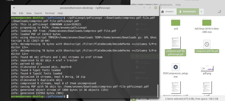 how to compress a pdf file using python