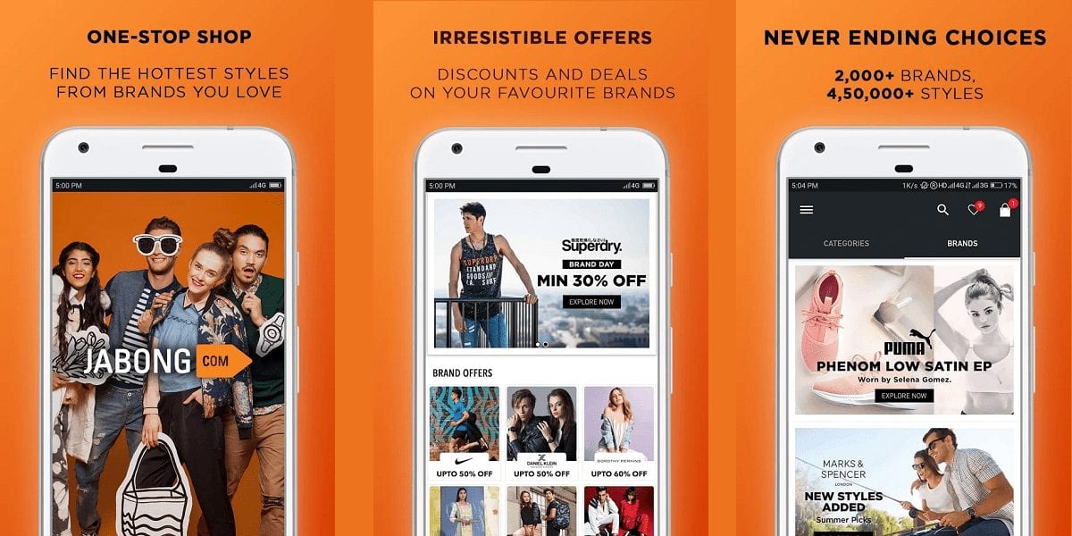 Jabong Online Shopping App Review - 30 Best Online shopping Apps in India