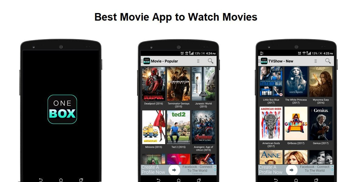 OneBox HD - Best Apps for Movie Download for Android