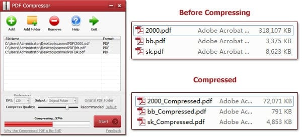 how to compress a pdf file using windows applications