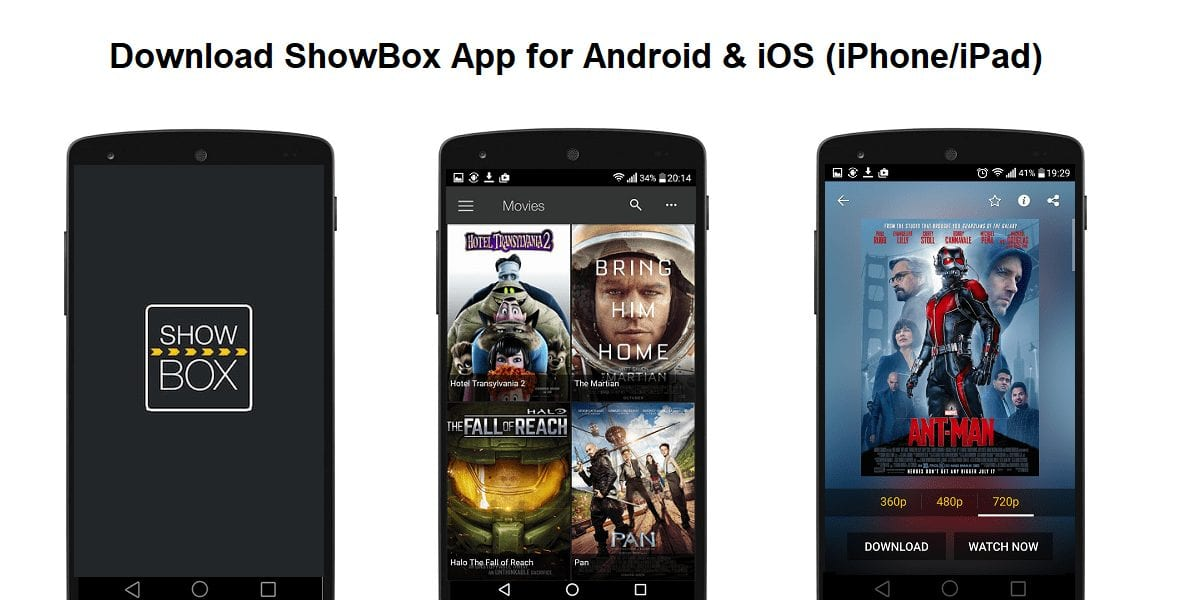 ShowBox - Best Apps for Movie Download for Android